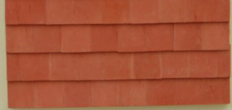 Red Roof Tiles - Large - Dolls House - 1/24th Scale.